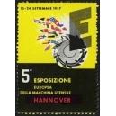 Hannover 1957 5a Esposizione Europea della Macchina Utensile