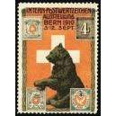 Bern 1910 Postwertzeichen Ausstellung (Var B mit Datum)