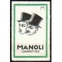 Manoli Cigaretten (2 Männerköpfe mit Zylinder)