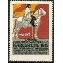 Karlsruhe 1915 Badische Jubiläums-Ausstellung ... (rot)
