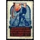 Frankfurt 1911 28. Bundesfest des Radfahrerbundes (Text rot)