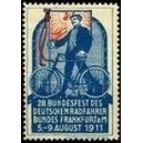 Frankfurt 1911 28. Bundesfest des Radfahrerbundes (Text weiss)