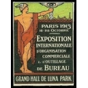 Paris 1913 Exposition d'Organisation Commerciale (geschnitten)