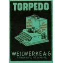Torpedo für Reise und Büro ... Weilwerke AG Frankfurt (grün)