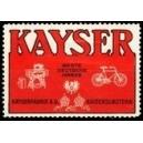 Kayser Nähmaschinen Fahrräder (WK 02)