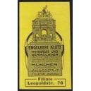 Klotz Fahrräder und Nähmaschinen München (gelb)