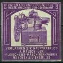 Malsch Fleischerei - Maschinen - Fabrik München (violett)