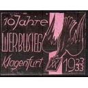Klagenfurt 10 Jahre Werbusieg 1923/33 (Taube - rosa)