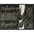 Klagenfurt 10 Jahre Werbusieg 1923/33 (Taube - türkis)