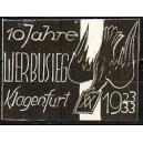 Klagenfurt 10 Jahre Werbusieg 1923/33 (Taube - weiss)