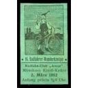 München 1912 16. Radfahrer Wanderkneipe (grün)