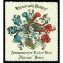 """Bonn Akademischer Ruder - Klub """"Rhenus"""" sei's Panier !"""