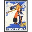 Pontresina (Paar mit Schlitten und Ski)