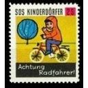 SOS Kinderdörfer Achtung Radfahrer