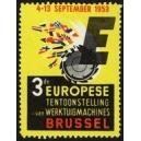 Brussel 1953 3de Europese Tentoonstelling Werktuigmachines