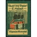 Malsch, Buchhandlung Papier ... Nr. 9 Allgemeine Wissenschaft