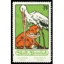 Schultz Grünlack Qualitäts-Sect Rüdesheim (Storch, Fuchs)