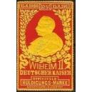 Wilhelm II Deutscher Kaiser Offizielle Huldigungs-Marke (orange)