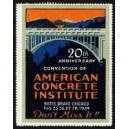 Chicago 1924 Convention of American Concrete Institute