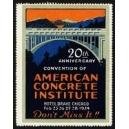 Chicago 1924 Convention of American Concrete Institute