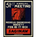 Saginaw 1931 51th Meeting Michigan Engineering Society ...