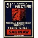 Saginaw 1931 51th Meeting Michigan Engineering Society ...