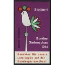 Stuttgart 1961 Bundes Gartenschau Beachten Sie ...