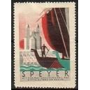 Speyer Mit dem Nationaldenkmal des Mittelalters am Rhein
