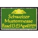 Basel 1929 Schweizer Mustermesse