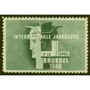 Brussel 1948 Internationale Jaarbeurs (blaugrün)
