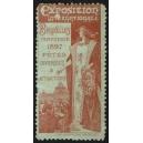 Bruxelles 1897 Exposition Internationale ... (rotbraun auf grau)