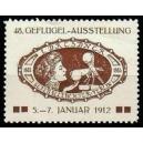 Dresden 1912 48. Geflügel-Ausstellung ... (braun)
