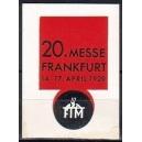 Frankfurt 1929 20. Messe ...