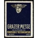 Graz 1923 Messe und Ausstellung Feuerschutz ...