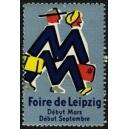 Leipzig Foire de Début Mars Début Septembre (blau)