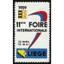Liège 1959 11eme Foire Internationale ...