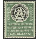 Ljubljana 1928 VIII. Vzorcni Velesejem ... (Var A grün)