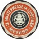 Ljubljana 1929 IX. Mustermesse ... (rot/schwarz auf weiss)