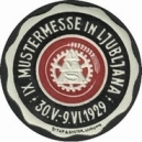 Ljubljana 1929 IX. Mustermesse ... (schwarz/bordeaux auf weiss)