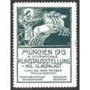 München 1913 XI. Internationale Kunstausstellung ... (grün)