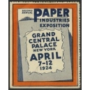 New York 1924 Paper Industries Exposition ...