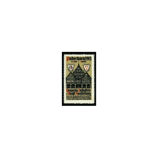 paderborn 1913 gewerbe industrie u kunst ausstellung var b poster stamps wolfgang kunze. Black Bedroom Furniture Sets. Home Design Ideas