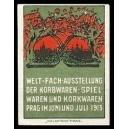 Prag 1913 ... Ausstellung der Korbwaren, Spielwaren ...