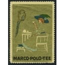 Marco Polo Tee (Frau mit Papagei - gold)
