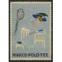 Marco Polo Tee (Frau mit Papagei - silber)