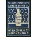 Chur München Südd. Armee-Konserven ... (blau)