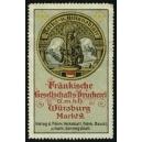 Fränkische Gesellschafts-Druckerei Würzburg ,,, (WK 01)