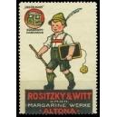 Rositzy & Witt Margarine Werke Altona ... (Schiefertafel)