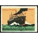 """Norddeutscher Lloyd Bremen Reichspostdampfer """"Rhein"""""""