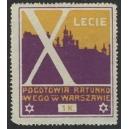 Warszawie X Lecie Pogotowia Ratunkowego (lila/ocker)